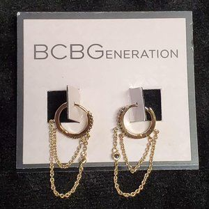 BCBGeneration Mini Gold Tone Hoops